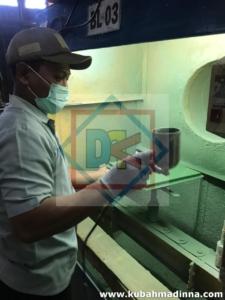 proses coating kubah enamel